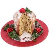 Torta de la Navidad del panettone del chocolate Imagen de archivo libre de regalías