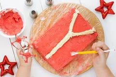 Torta de la Navidad, torta fea del suéter para la fiesta de Navidad Fotos de archivo