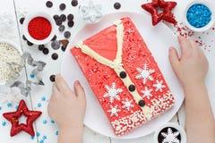 Torta de la Navidad, torta fea del suéter para la fiesta de Navidad Imagenes de archivo