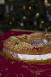 Torta de la Navidad (Roscon de Reyes) Fotografía de archivo libre de regalías