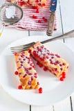 Torta de la pasa roja Fotografía de archivo libre de regalías