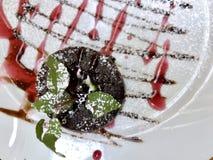 Torta de la pasta de azúcar Foto de archivo libre de regalías