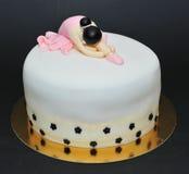 Torta de la pasta de azúcar de la bailarina Imagen de archivo libre de regalías