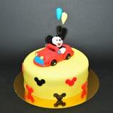 Torta de la pasta de azúcar de Mickey Mouse Foto de archivo