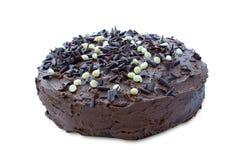 Torta de la pasta dura de chocolate Imágenes de archivo libres de regalías