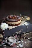 Torta de la pera del chocolate Fotos de archivo