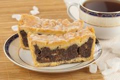 Torta de la semilla de amapola Foto de archivo libre de regalías