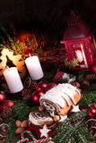 Torta de la semilla de amapola de la Navidad Fotografía de archivo libre de regalías