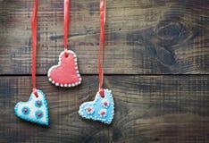Torta de la tarjeta del día de San Valentín con el espacio para el texto Foto de archivo libre de regalías