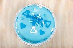 Torta de la tarjeta del día de San Valentín del cumpleaños Foto de archivo