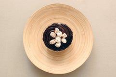 Torta de la taza del chocolate fotos de archivo
