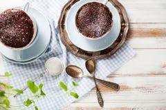 Torta de la taza del chocolate Foto de archivo libre de regalías