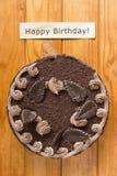 Torta de la trufa para el cumpleaños Foto de archivo libre de regalías