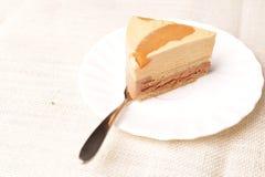 Torta de la vainilla Imagen de archivo libre de regalías