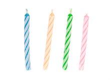 Torta de la vela del cumpleaños Imagen de archivo