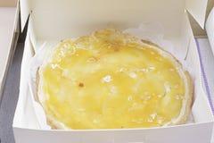 Torta de la yema de huevo Fotos de archivo