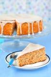 Torta de la zanahoria y de la almendra Imagen de archivo