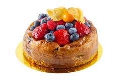 Torta de las natillas de fruta Imagenes de archivo