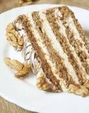 Torta de las nueces Foto de archivo libre de regalías