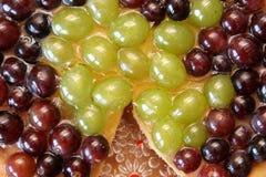 Torta de las uvas Imagen de archivo libre de regalías