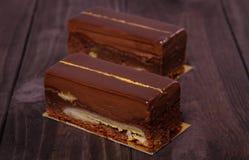 Torta de los brownie Imagen de archivo libre de regalías