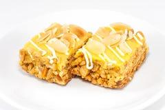 Torta de los pasteles de la vainilla Foto de archivo libre de regalías