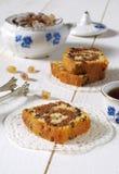 Torta de mármol del café y del chocolate Foto de archivo libre de regalías