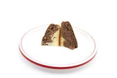 Torta de mármol en la placa plástica Foto de archivo