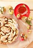 Torta de maçã caseiro Imagem de Stock Royalty Free