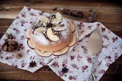 Torta de maçã caseiro Imagem de Stock