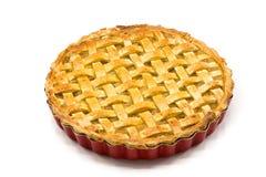 Torta de maçã caseiro isolada fotografia de stock royalty free