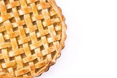 Torta de maçã caseiro isolada no fundo branco fotografia de stock