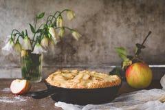 Torta de maçã cozida fresca Fotos de Stock