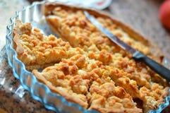 Torta de maçã francesa da migalha Imagem de Stock Royalty Free