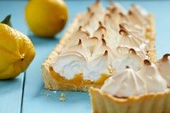 Torta de meringue de limão Fotografia de Stock