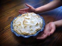 Torta de Meringue de limão Imagem de Stock