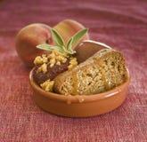 Torta de miel con las frutas Imagen de archivo libre de regalías