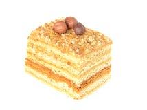 Torta de miel con las tuercas Imagen de archivo libre de regalías