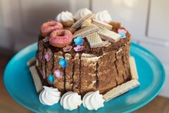 Torta de miel hecha en casa fotos de archivo