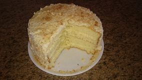 Torta de Milktart Imágenes de archivo libres de regalías