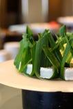 Torta de Pandan en hojas foto de archivo libre de regalías