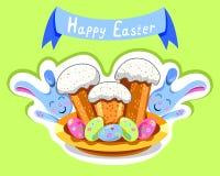 Torta de Pascua stock de ilustración