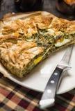 Torta de Pasqualina - agria, recibo italiano Imágenes de archivo libres de regalías