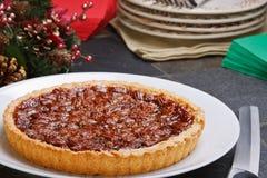Torta de pecan do feriado imagens de stock royalty free
