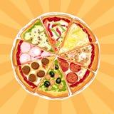 Torta de pizza Imagens de Stock Royalty Free