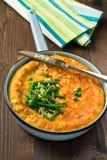 Torta de potenciômetro da galinha e dos cogumelos com vegetais Imagem de Stock