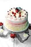 Torta de Rasberry Foto de archivo libre de regalías