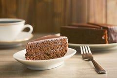 Torta de Sacher Fotografía de archivo libre de regalías