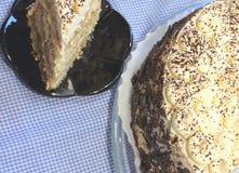 Torta de Tiramisu Foto de archivo libre de regalías