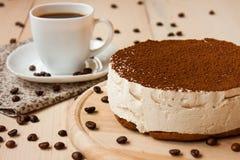 Torta de Tiramisu Foto de archivo